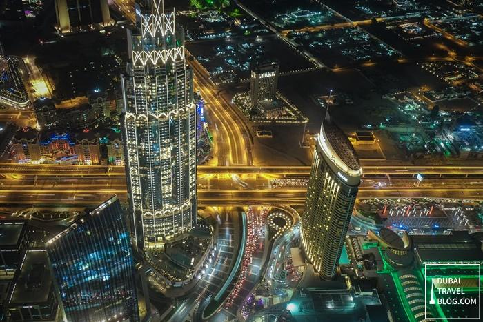 at the top burj khalifa night time