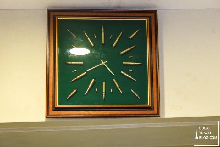 clock made of gun ammo