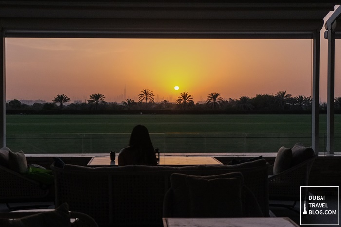 dubai skyline terrace view desert palm dubai