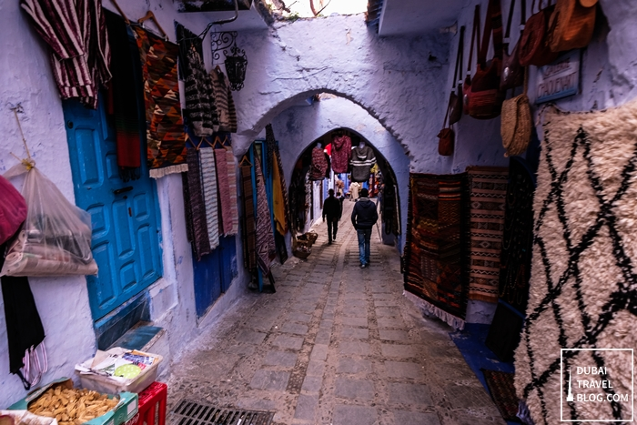 alleys in chefchaouen morocco