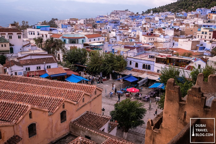 chefchaouen roof view from Al kasbah tower