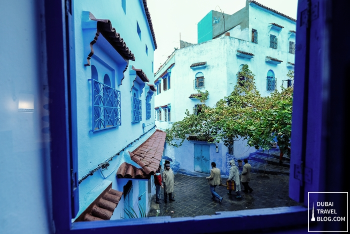 rainy morning chefchaouen morocco