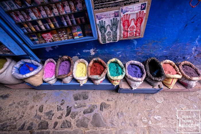 spices in grocery store chefchaouen