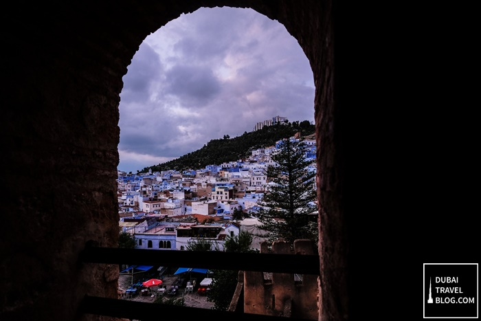 view of the blue town chefchaouen