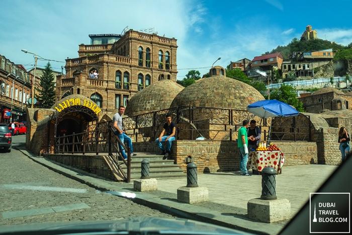 sulfur bath house in tbilisi