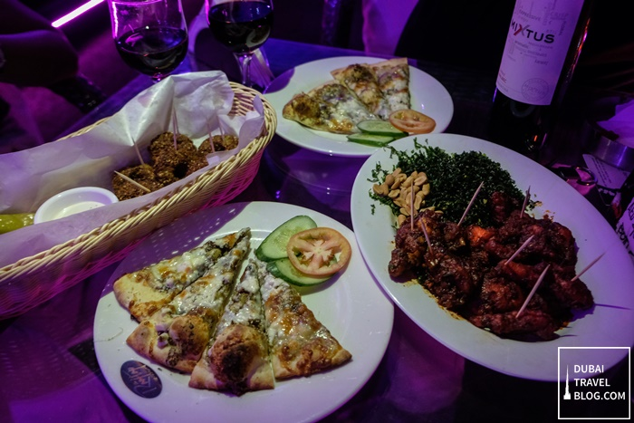 the rooftop lounge food