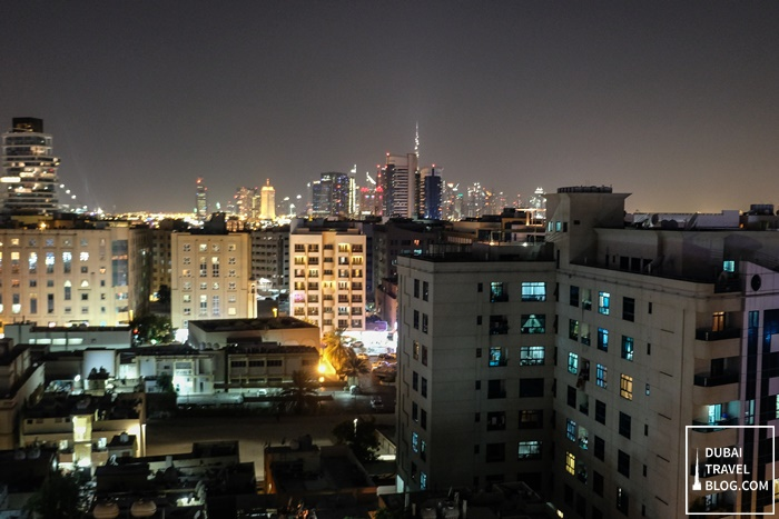 view from the rooftop lounge