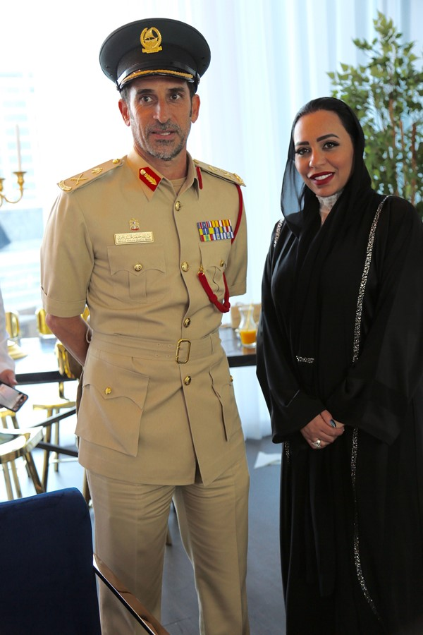 Abdullah Khalifa Al Marri Commander-in-Chief of Dubai Police and Rasha Al Danhani