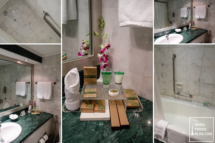 Danat Al Ain Resort bathroom suite