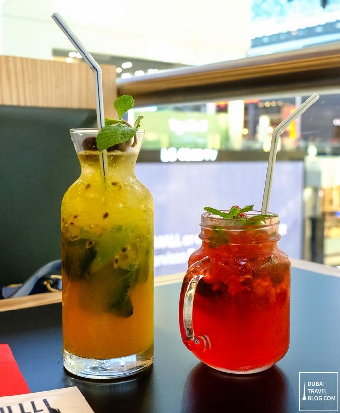 drinks at the grilll shack dubai mall