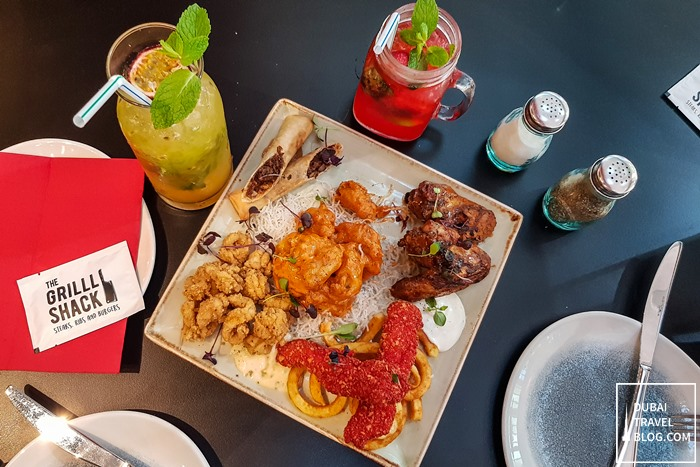 the grilll shack appetizer platter