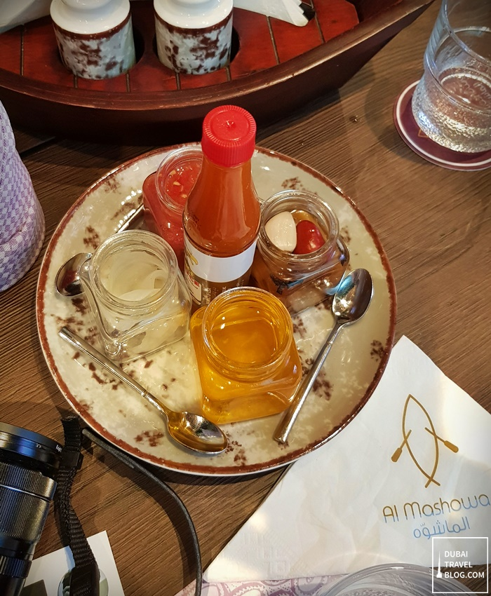 condiments al mashowa restaurant