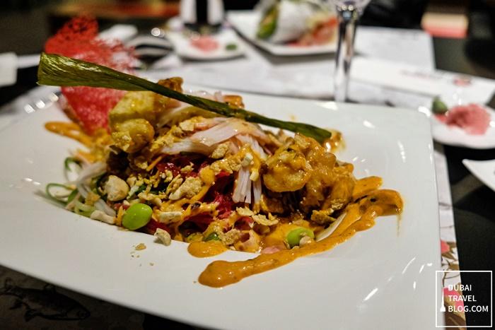 crabsticks prawn tempura poke dubai