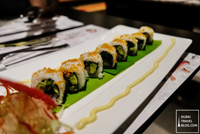 maki rolls sushi burrito dubai