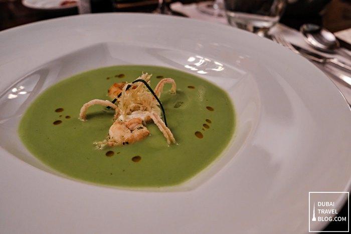 green peas soup zaitoun chefs table