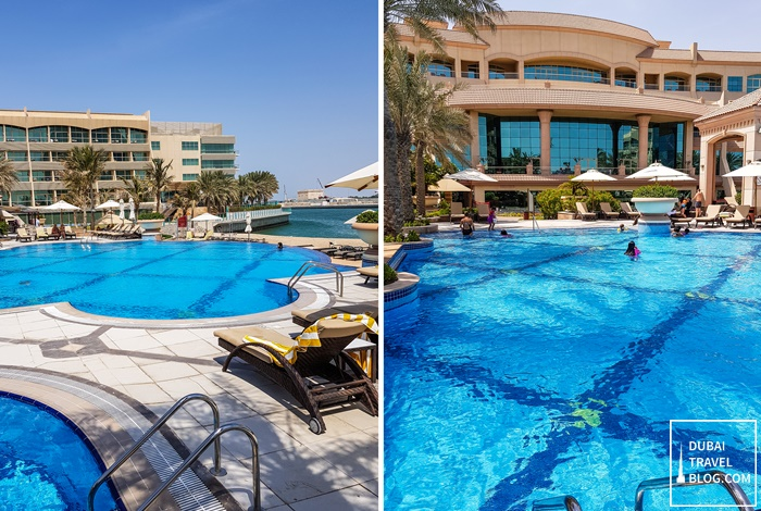 main pool al raha beach hotel