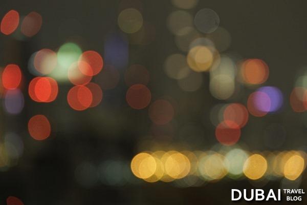 skyline dubai blurry