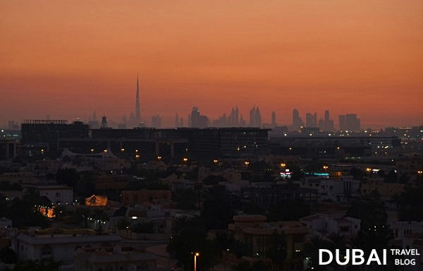 dubai skyline from qusais