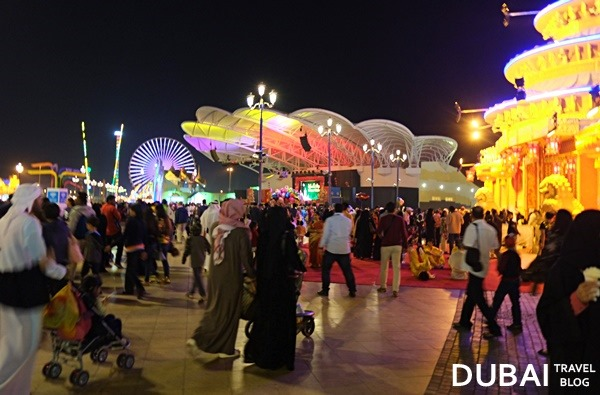 crowd at global village