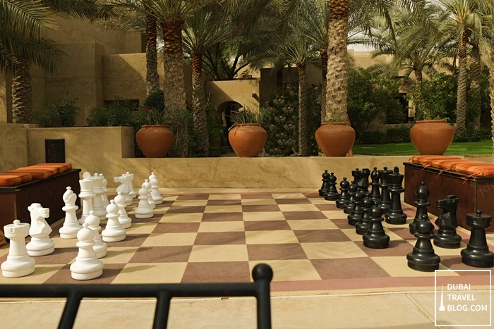 giant chess board in bab al shamsa dubai
