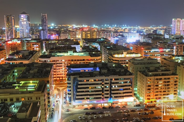 bur dubai view at night