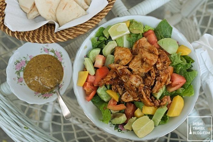 exotic chicken salad arabian teahouse