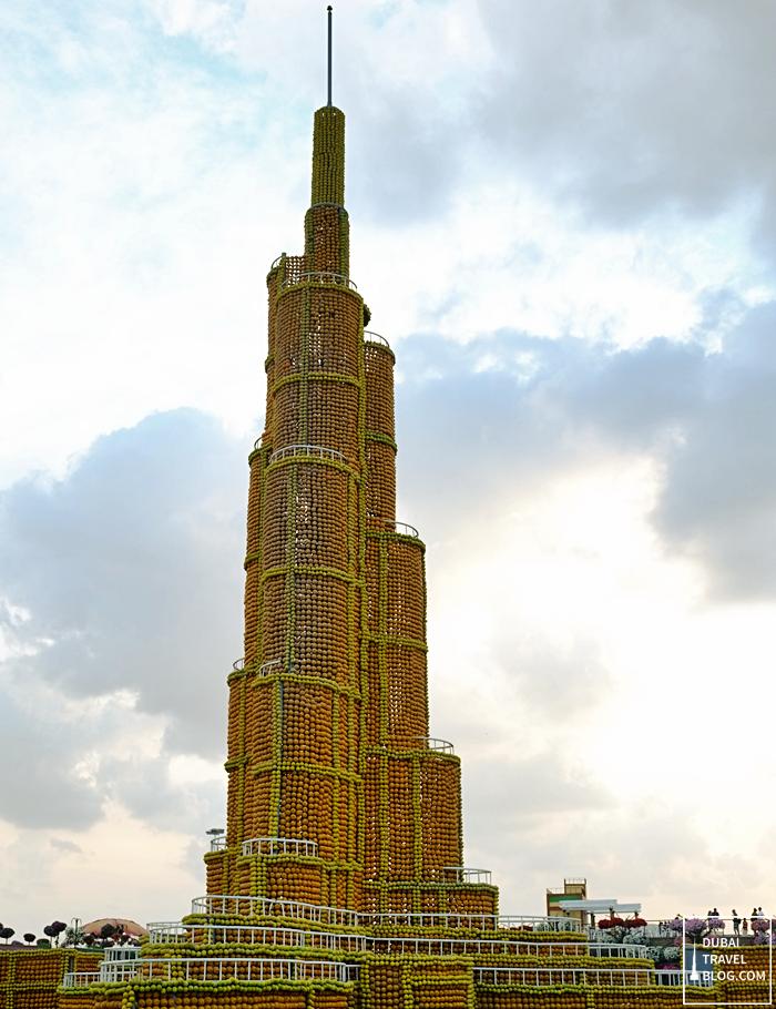 burj khalifa replica in miracle garden