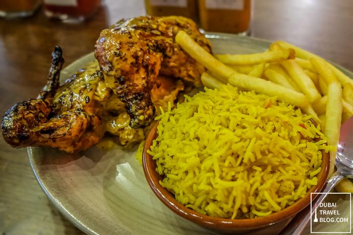 half chicken peri-peri nandos