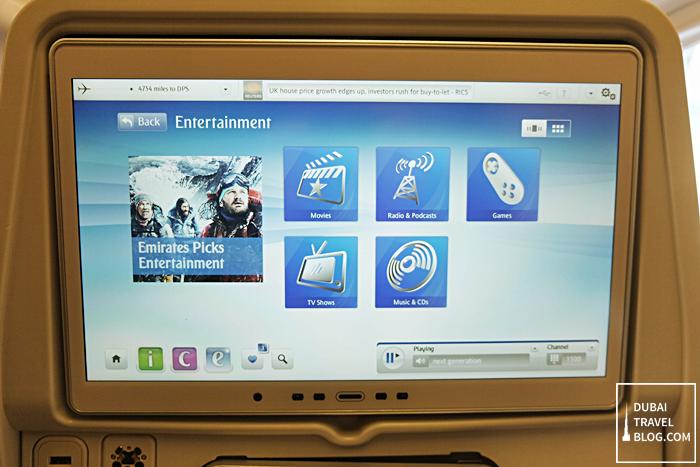 Emirates airlines entertainment