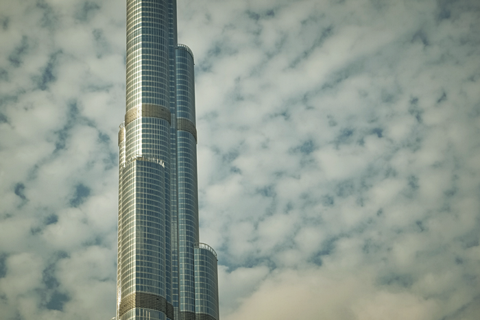close up of burj khalifa