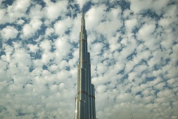 cloudy day burj khalifa