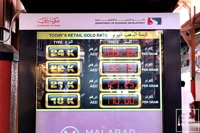 dubai gold rate souk