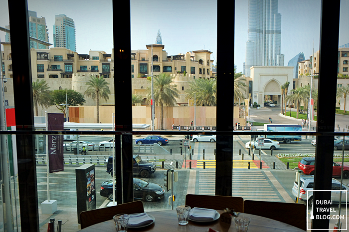 view of burj khalifa from fume restaurant