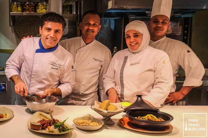chefs at al maeda double tree hilton JBR