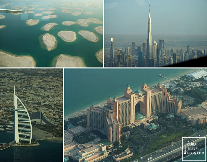 dubai iconic spots aerial photo