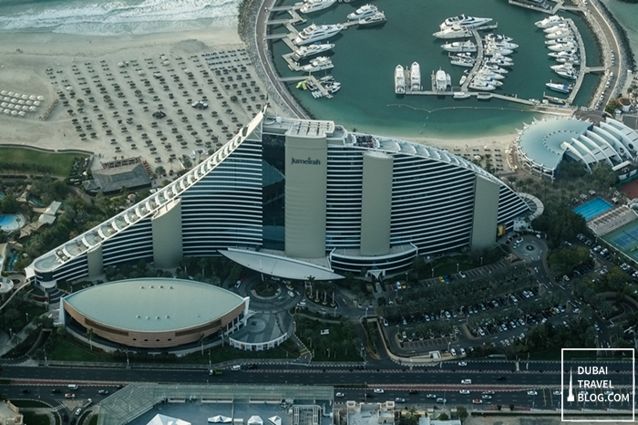 dubai jumeirah beach hotel view from top