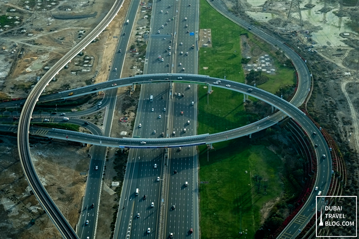 dubai road aerial photo