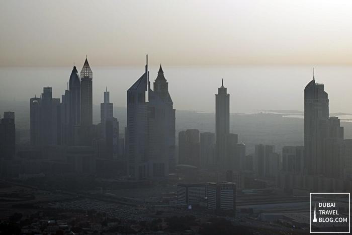 dubai skyline hazy