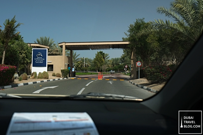 jebel ali golf resort and spa entrance