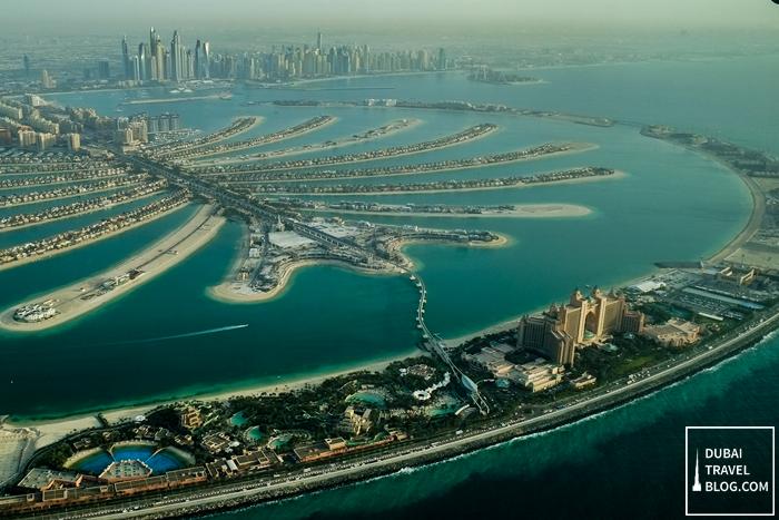 palm jumeirah aerial photo