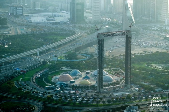 the dubai frame aerial view