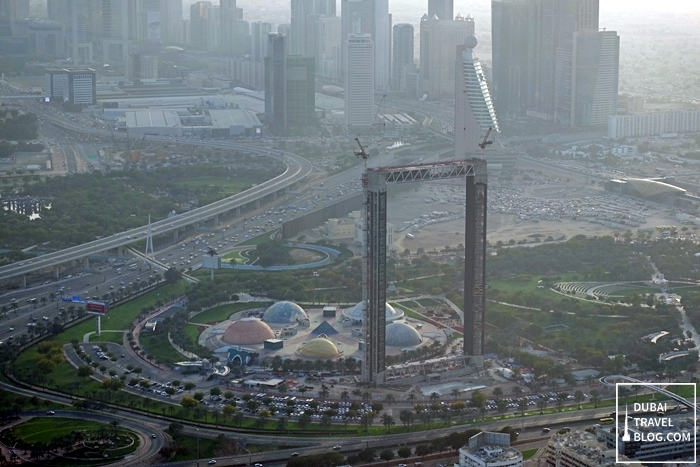 the frame dubai aerial view