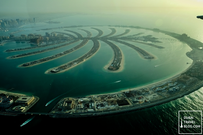 the palm jumeirah aerial shot