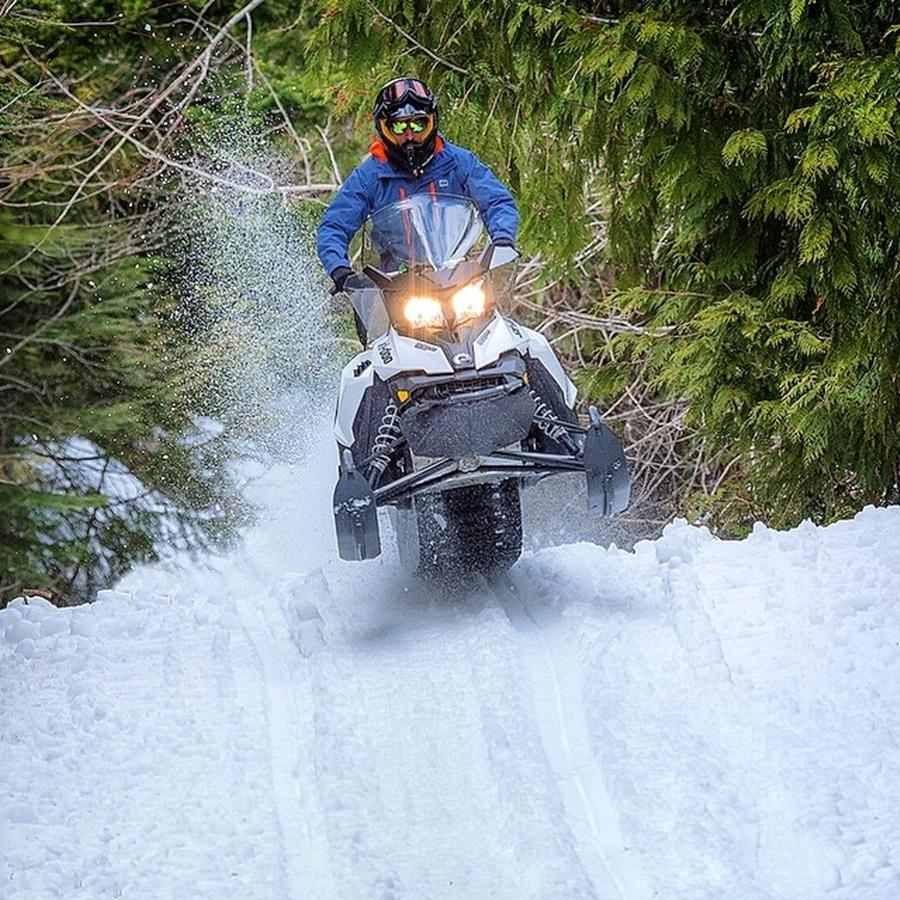 Sheikh Hamdan Driving Snowmobile