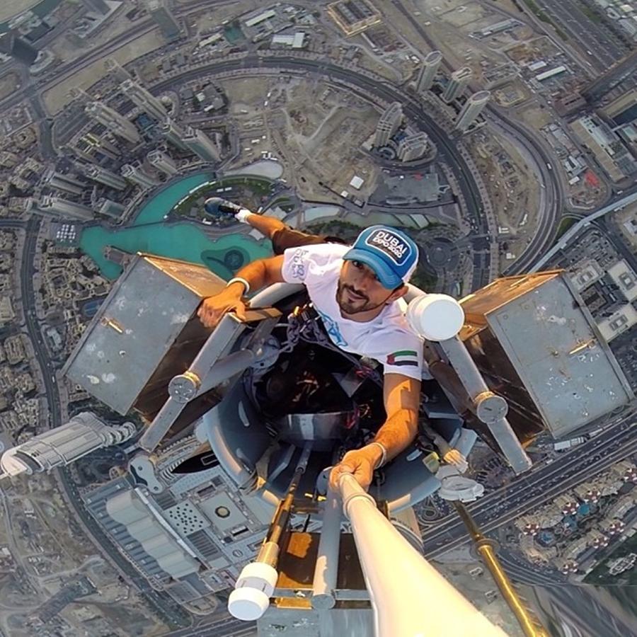 Sheikh Hamdan Selfie Scyscraper