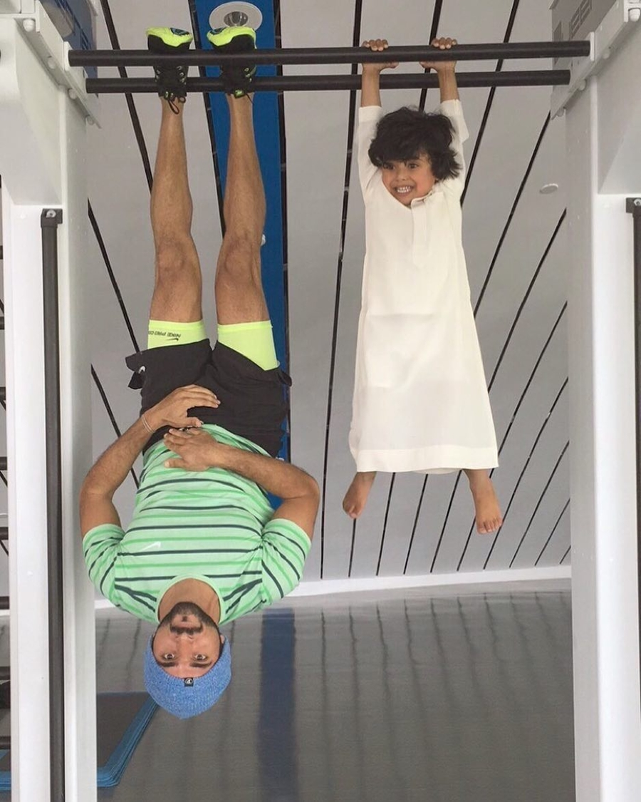 Sheikh Hamdan Upside Down