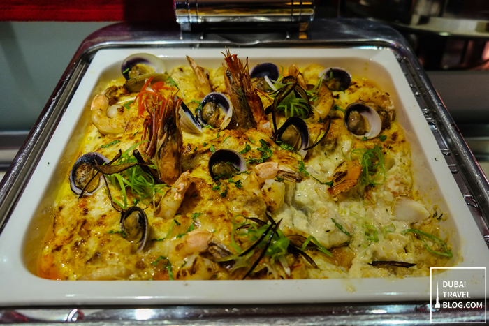 mixed seafood thermidor novotel dubai