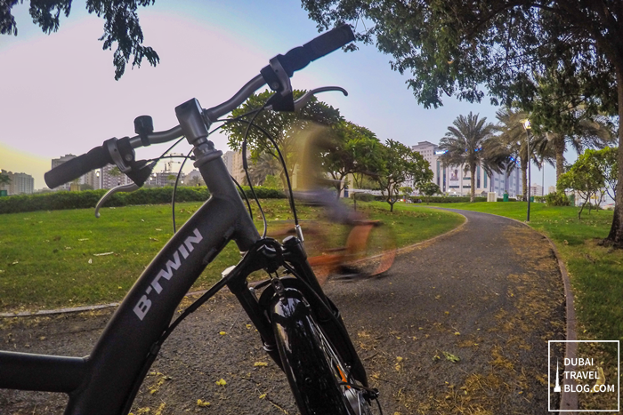 Pond Park cycling dubai