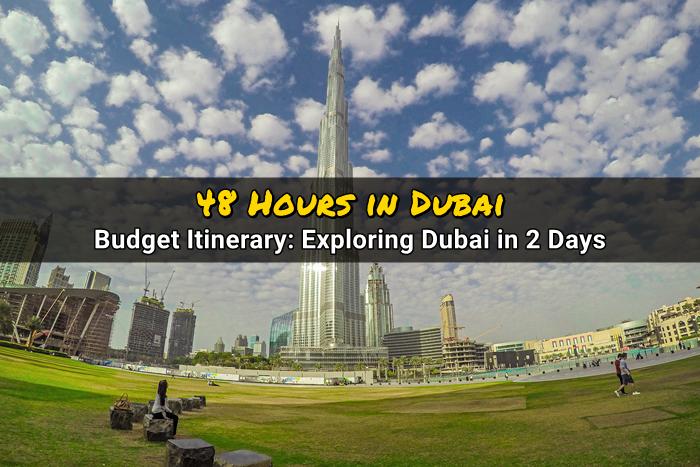 48 hours in dubai travel budget