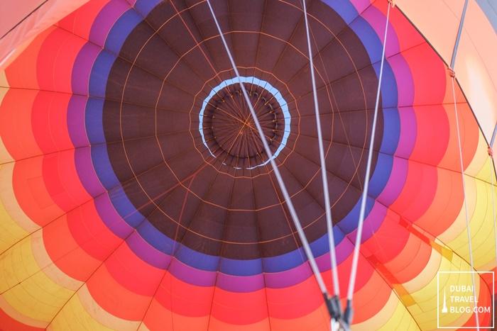 hot air balloon experience dubai